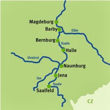 Saale Radweg Karte.Augustustours Saaleradweg