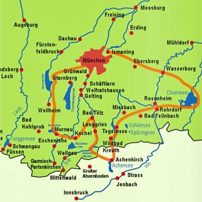 Sportive Reisen Munchner Seenrunde