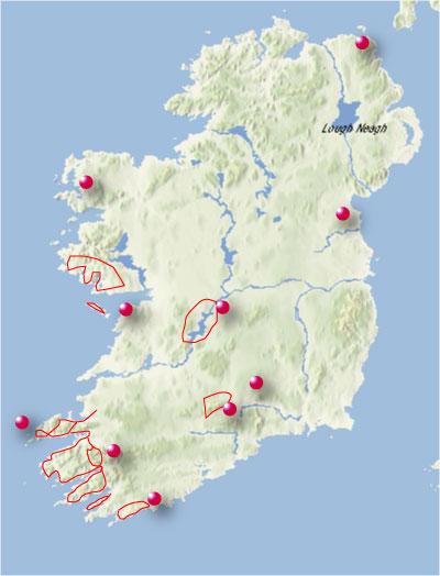 Irland Karte.Irland Mit Dem Fahrrad Radwege Und Rundtouren Mit Dem Fahrrad